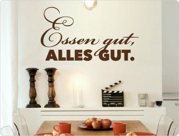 """Wandtattoo Spruch """"Essen gut alles gut """" Mit unseren"""