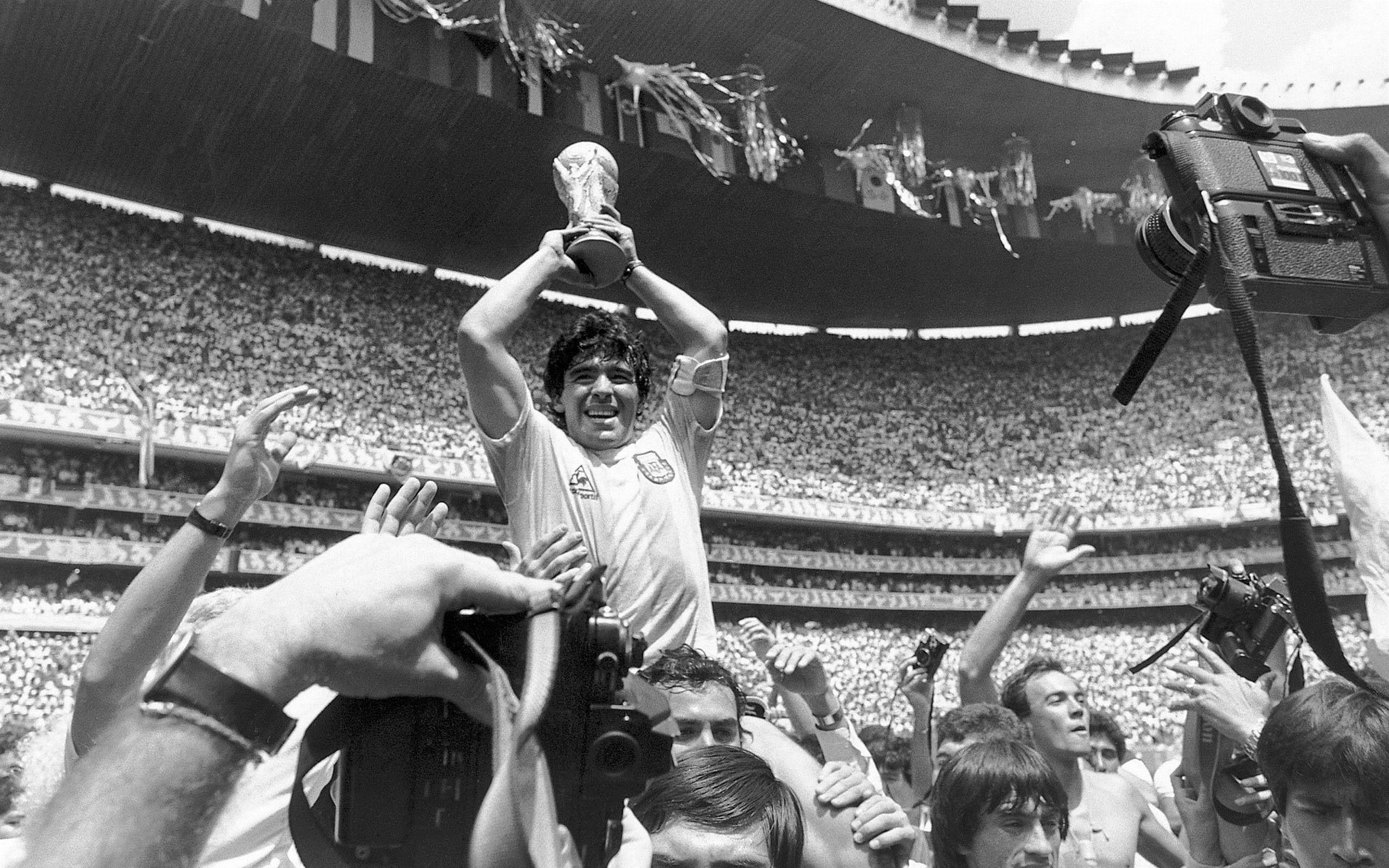 Maradona World Cup 1986 Black And White 2560x1600 Noir Et Blanc