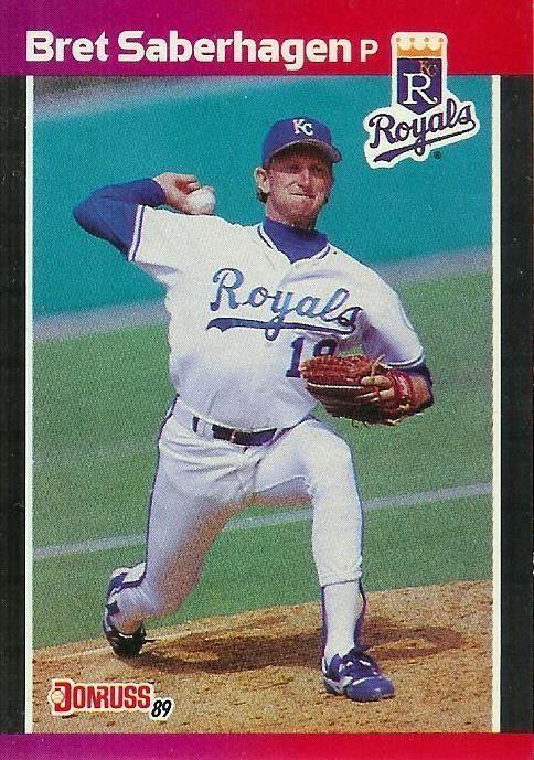 Bret Saberhagen Kansas City Royals Topps Baseball Card
