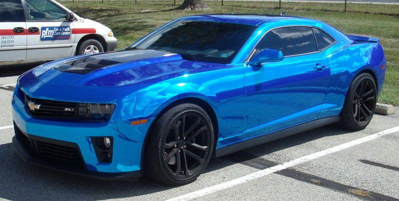 Blue Chrome Wrap Start Turning Heads Camaro Lifted Ford Trucks Car Ford