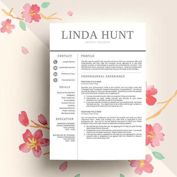 Professional Resume Template by Equinox Studio on @creativemarket - resume templates for highschool students