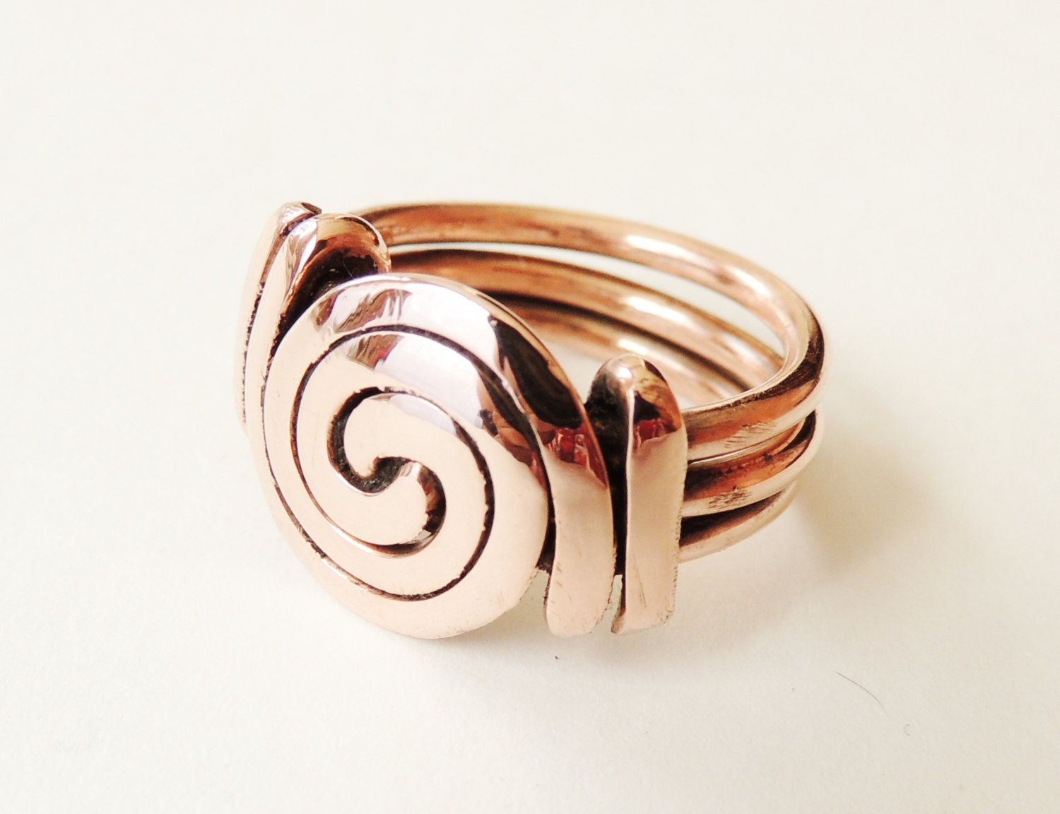 Spiral ring copper wire spiral polished copper wire by keoops8 ...
