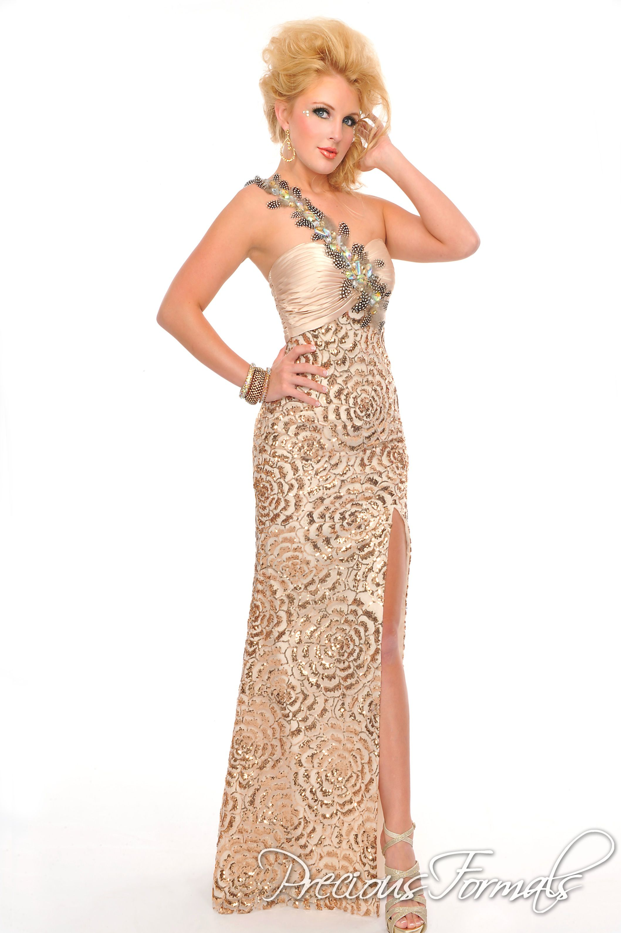 Nude Gold Gown From Precious Formals My Style Pinterest Gold Gown