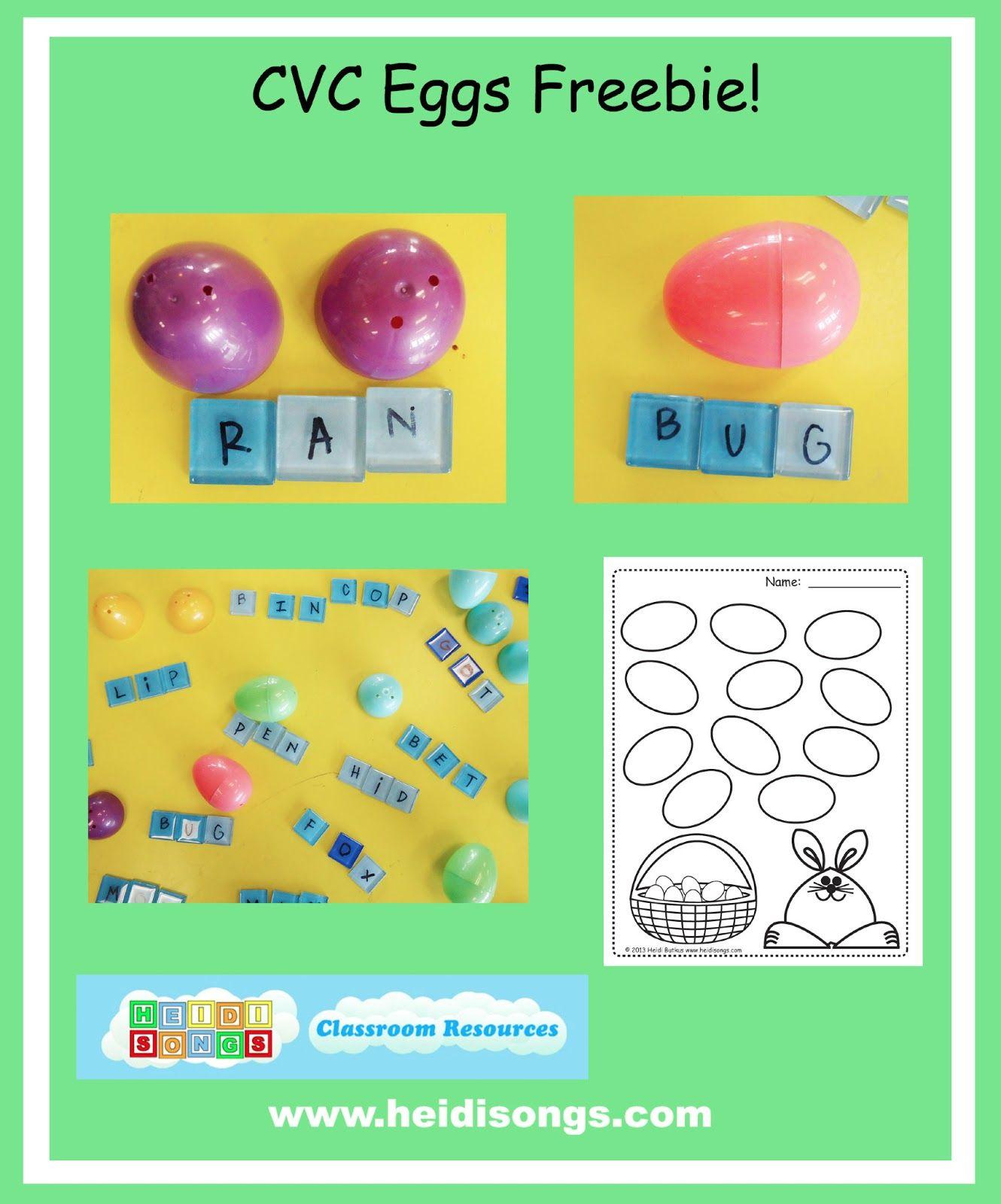 Cvc Eggs From Heidisongs Resource