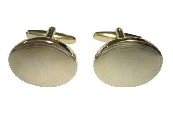 Kiola Designs Silver Toned Etched Oval Diamond Image Cufflinks
