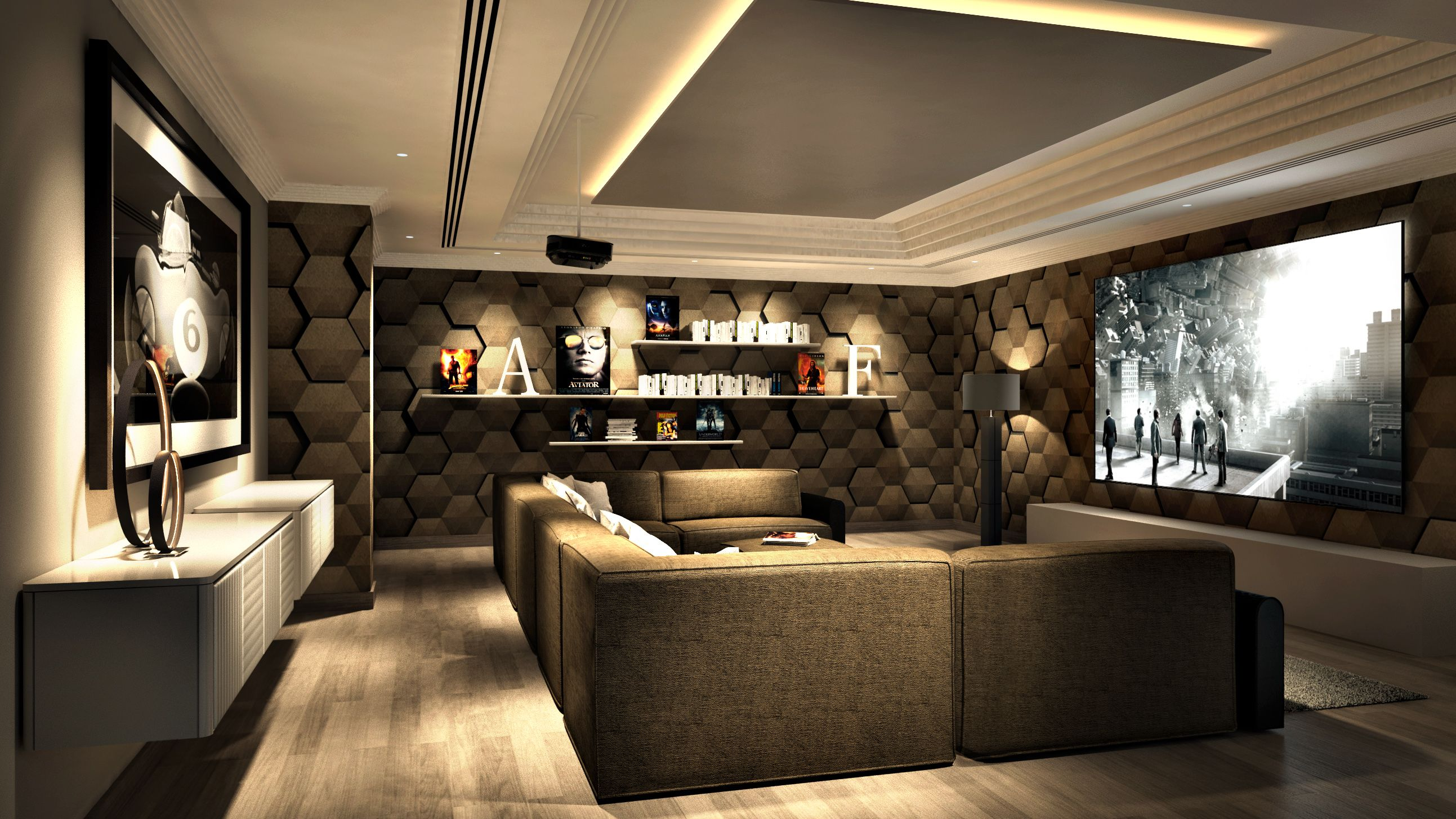Home Theatre Decor Ideas Part - 36: Cool Home Cinema Room Ideas