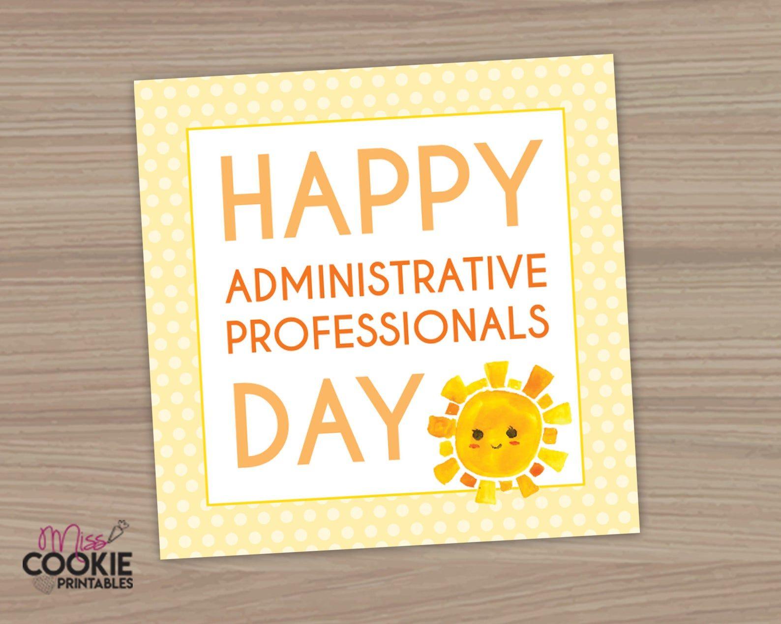 Printable Happy Administrative Professionals Day Tag 2 Inch Etsy In 2021 Administrative Professional Day Admin Professionals Day Administrative Professional