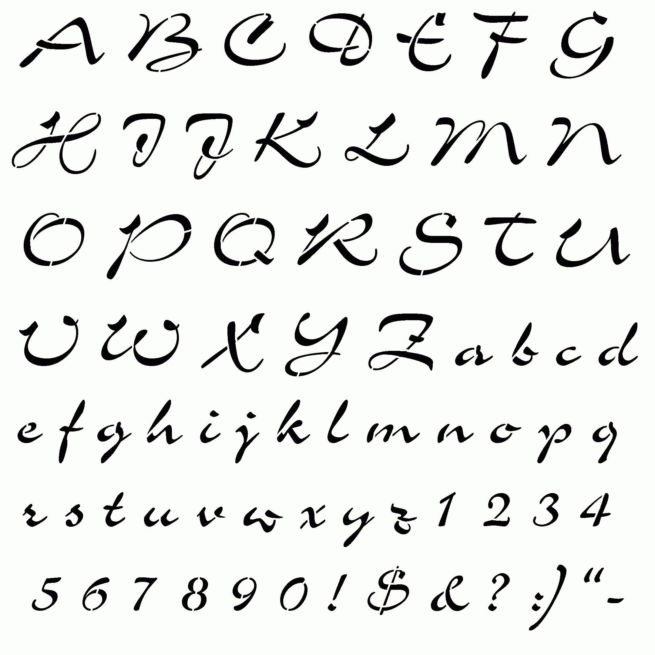 Afbeeldingsresultaat Voor Lettertypes Alfabet Stoer Diystencil