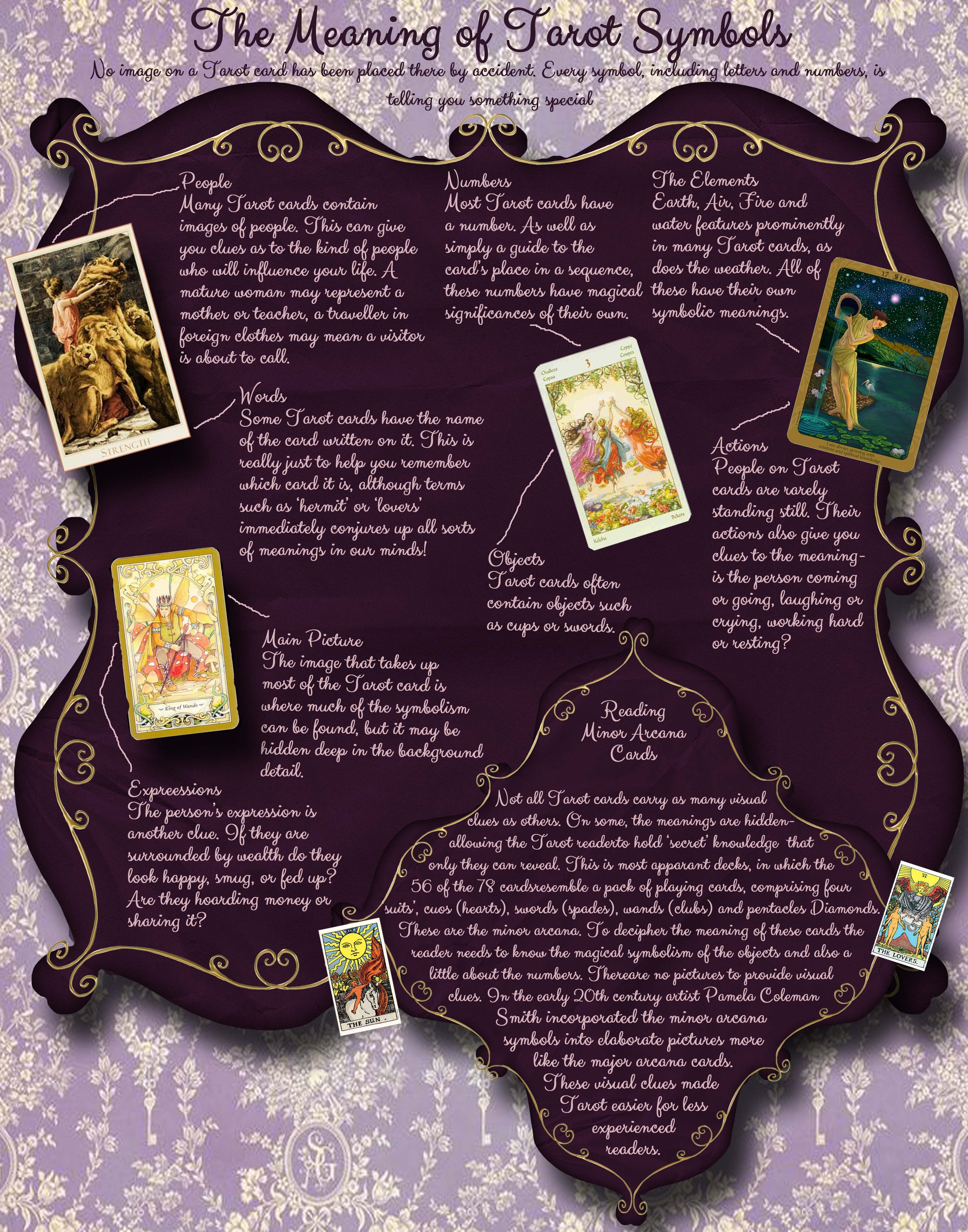 The Meaning Of Tarot Symbols Don T Know Where It S From