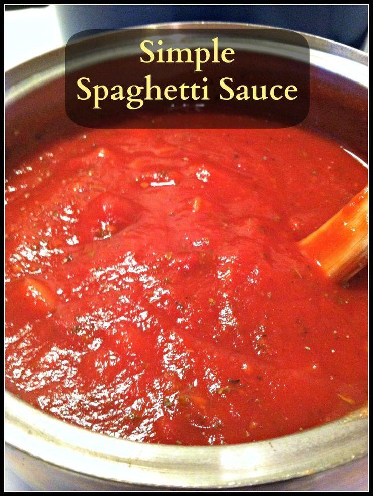 Simple spaghetti sauce without tomato paste
