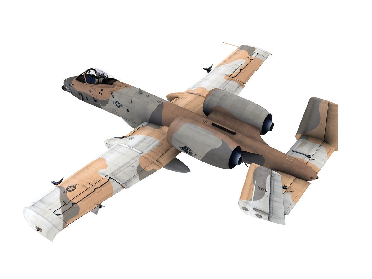 Fairchild/Republic A-10 Thunderbolt 3D Model   Download