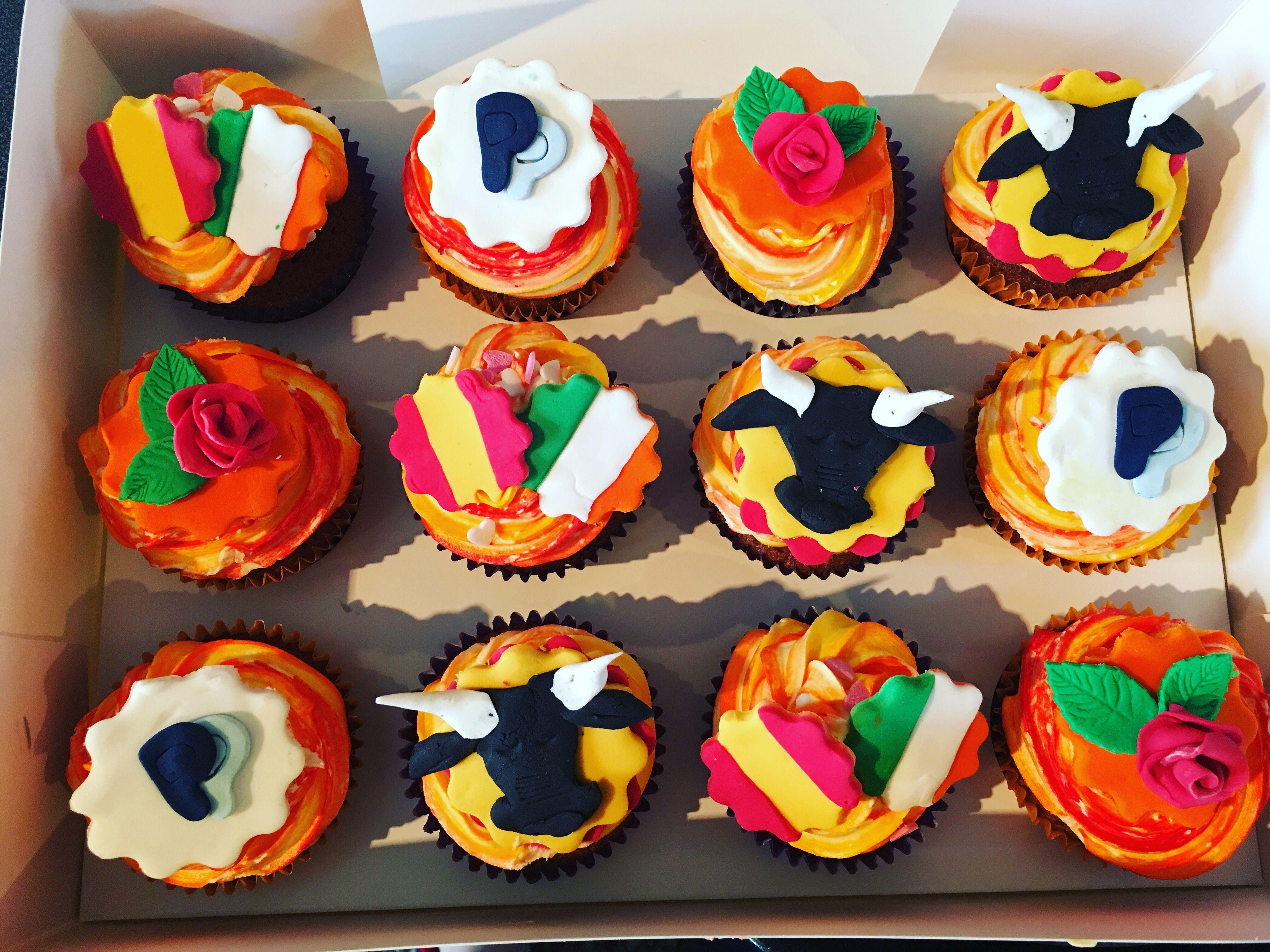Spanish theme Cupcakes  OLYMPICS  BARMBY FEAST  Pinterest