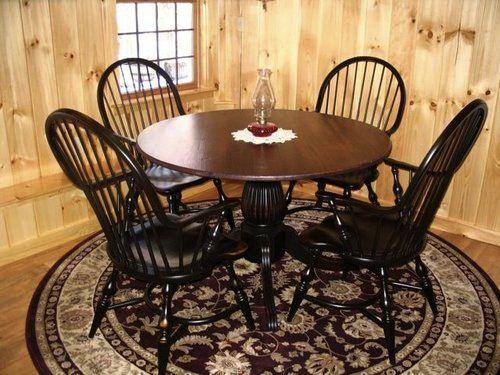 Farmhouse Kitchen Round Table | Round Kitchen Farm Table With Black Fluted  Pedestal,Round Kitchen Farm .