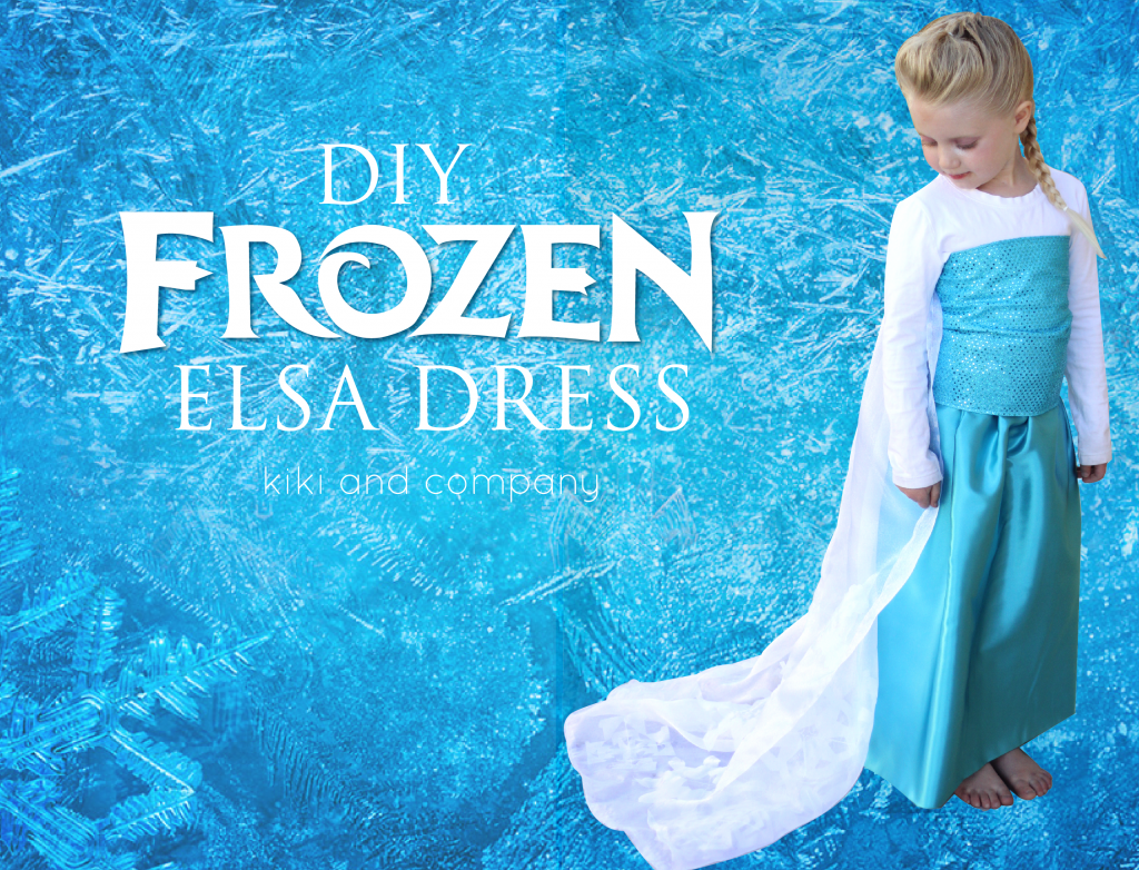DIY Frozen Elsa Dress. Make your own Elsa dress..super easy and super  sc 1 st  Pinterest & 20+ Awesome DIY Elsa Costume Tutorials for Little Girls | Frozen ...