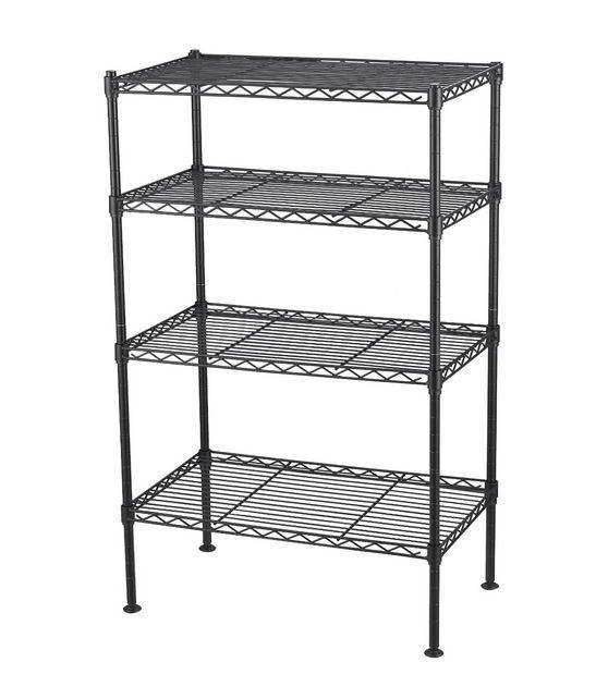 4 Tier Wire Shelving Rack Metal Shelf Adjustable Unit Garage