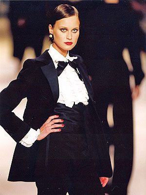 5ac7c965aea Le Smoking: the women's tuxedo suit created by Yves Saint Laurent (1966)  ... masculine, minimalist, magic