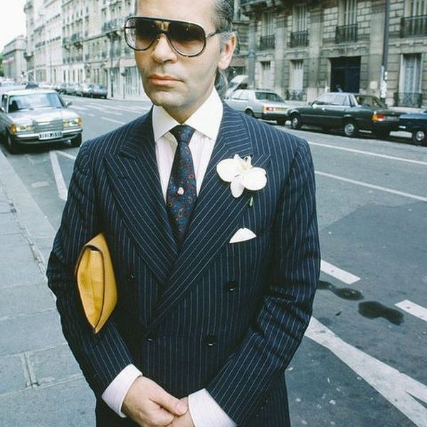 Another style icon today Karl Lagerfeld in his most elegant days when he was still wearing bespoke...