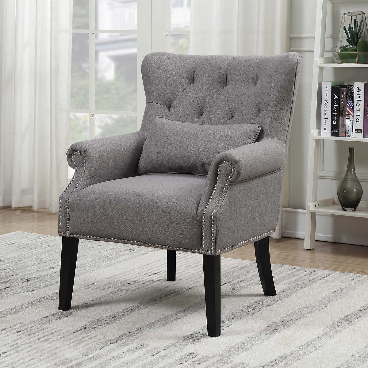 Costco Accent Chair Gray 300 Fabric Accent Chair Blue