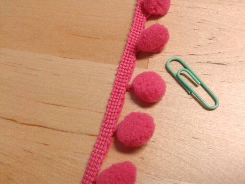Pom pom Trim or Fringe Pink, orange, green, purple, blue, red, mint by the yard