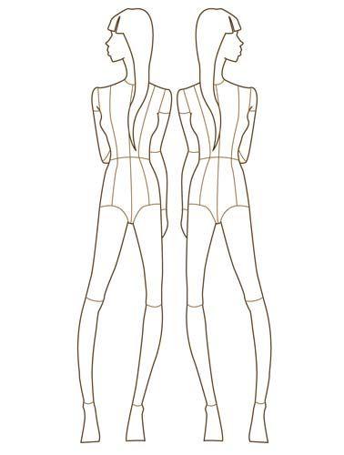Croqui Fashion Model Templates fashion template 2 Draws
