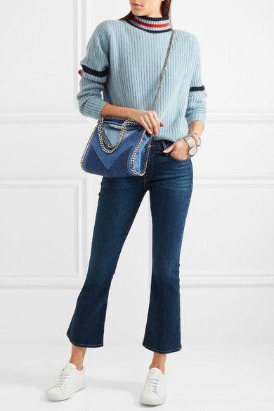 22a6c10375b4 Stella McCartney - Falabella Paneled Denim Shoulder Bag - Mid denim - one  size