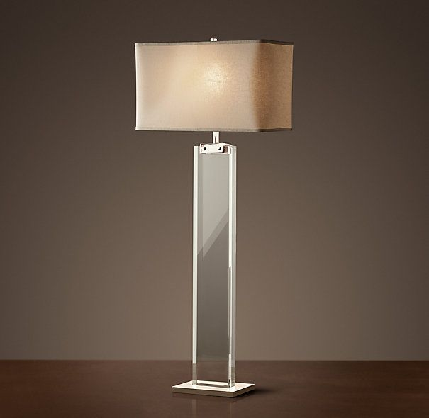 RECTANGLE COLUMN CRYSTAL BUFFET LAMP $425 Clean Lines And Elemental  Materials Lend An Iconic Quality To