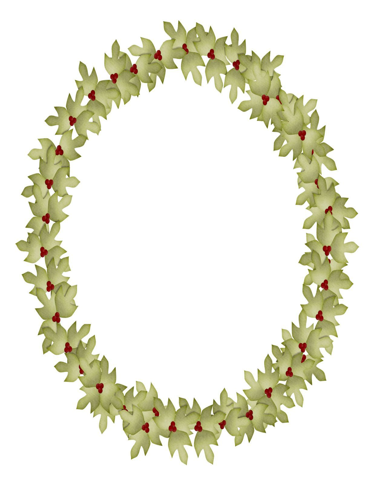 Holly wreath framedigital downloadclipartartclipdigital art