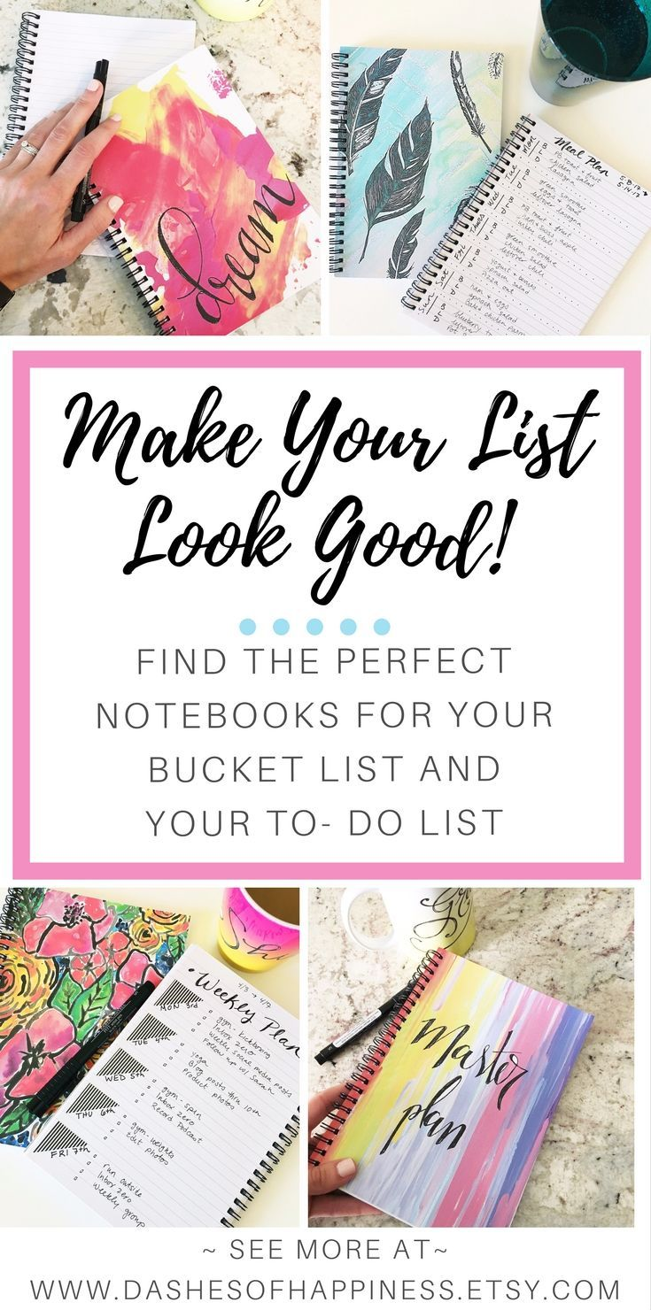 list makers unite! find the perfect notebook for your to do list