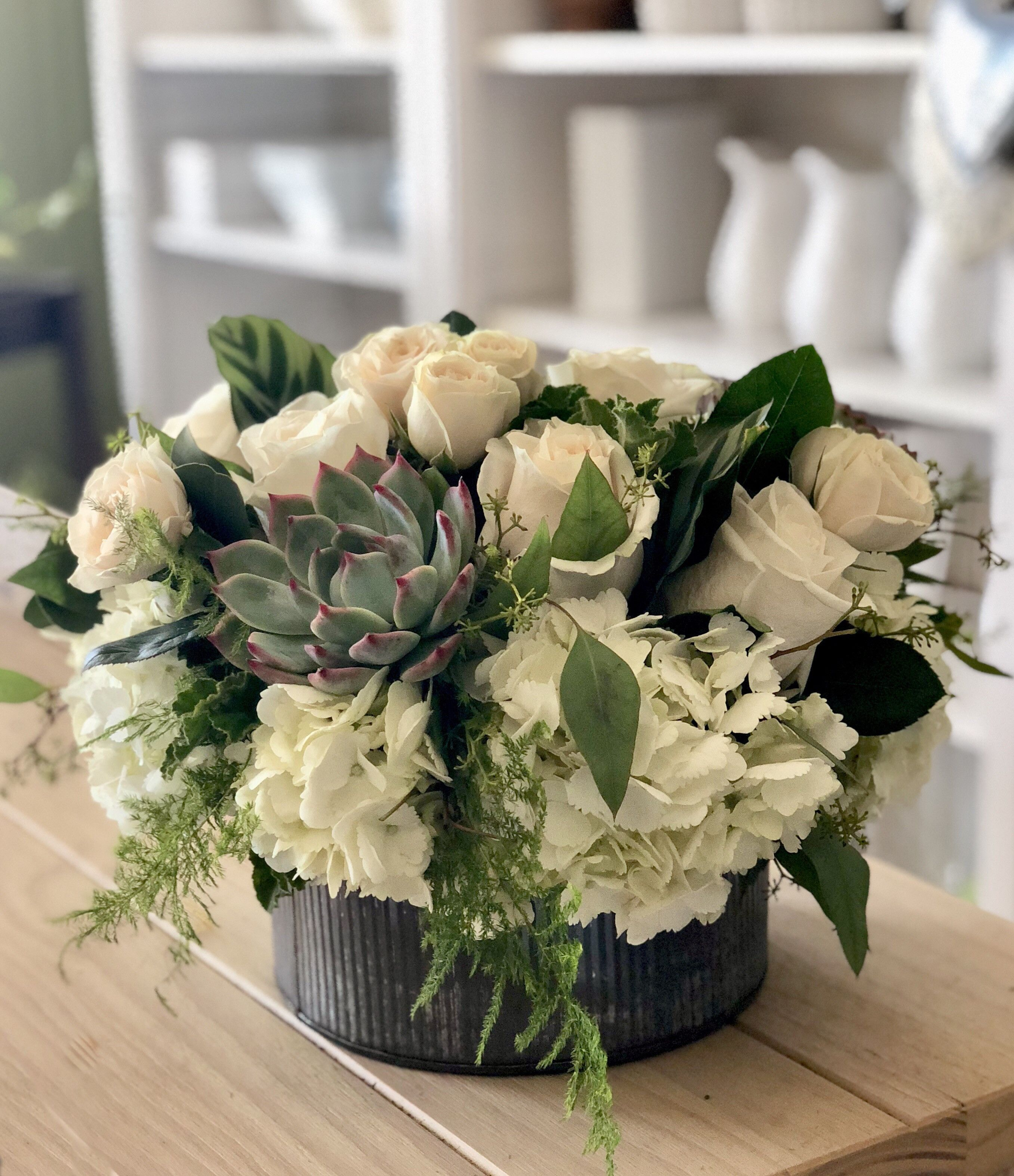 Roses & Succulents by My Blooming Business Flower
