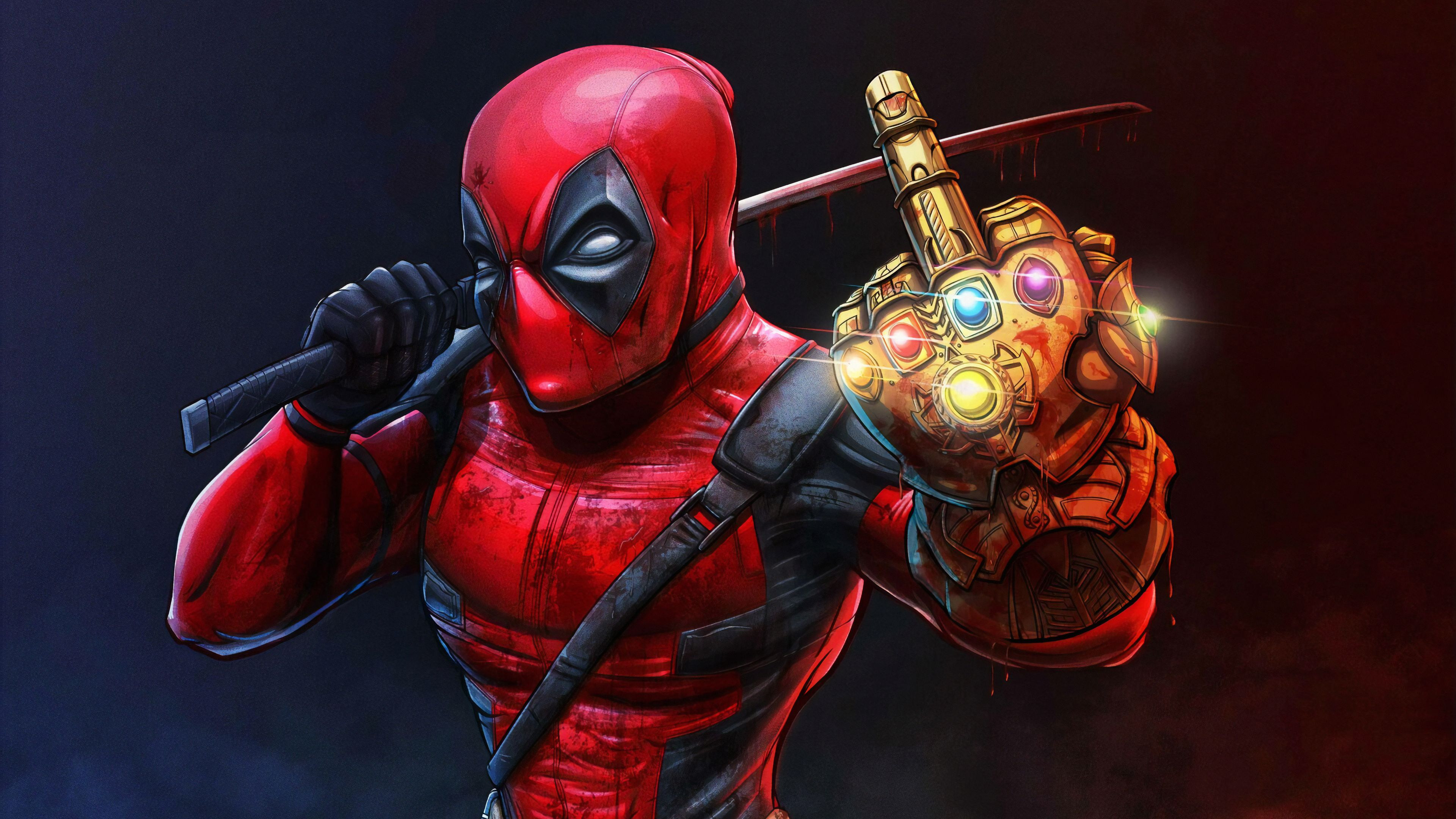 Deadpool With Thanos Infinity Gauntlet Superheroes Wallpapers Hd Wallpapers Digital Art Wallpapers Deadpool Wallp In 2020 Deadpool Wallpaper Spiderman Art Superhero