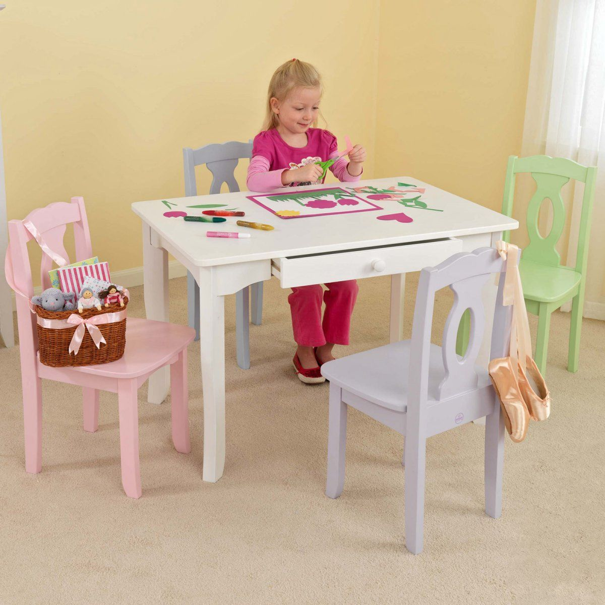 kidkraft white table and chairs wing chair covers canada brighton create your own set childrens sets at tables