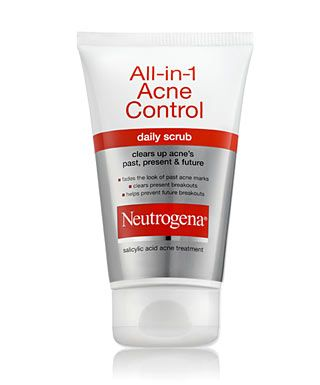 All in 1 acne control daily scrub from neutrogena a great daily neutrogena all in one acne cleanser past present future clears scarring from previous breakouts clears current breakouts and prevents future break ccuart Gallery