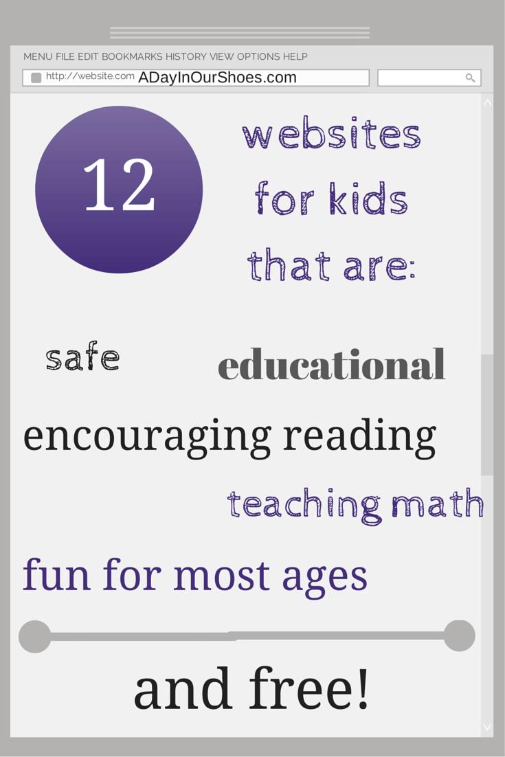 12 Free Educational Websites for Kids {that will make Moms feel less ...