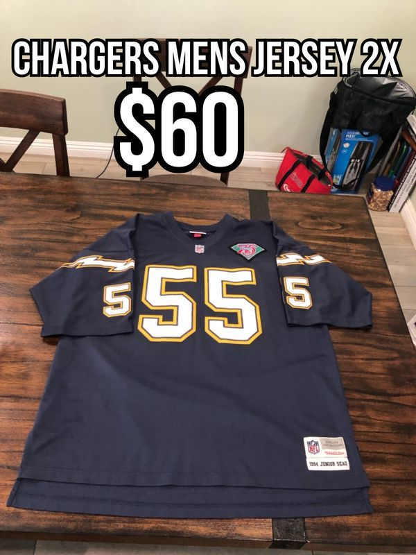 brand new a1ad5 9a7a8 NFL Mitchell and Ness San Diego Chargers #55 Junior Seau ...