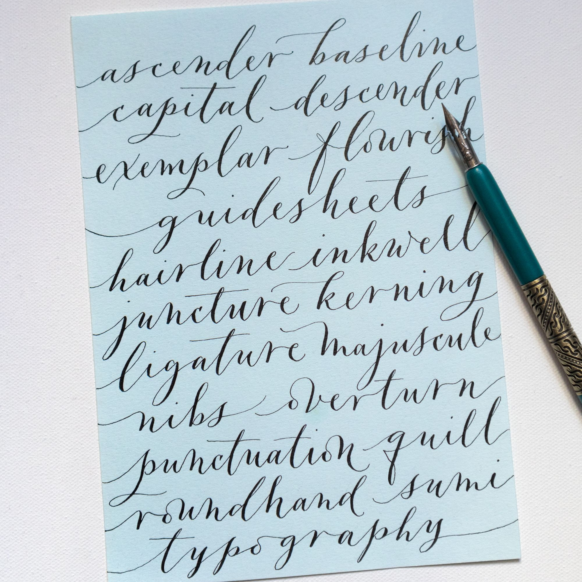 In My New Book Mastering Modern Calligraphy I Place A