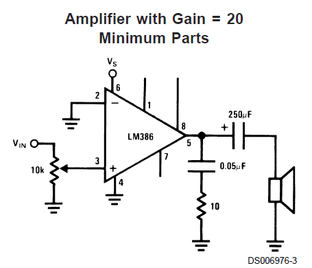 image result for lm358 amplifier circuit