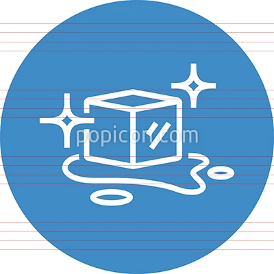 Melting Ice Cube With Puddle Outline Icon Tree Icon Bee Icon Pictograph