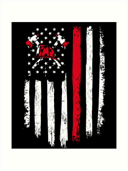 You Ll Love This Patriotic American Flag Firefighter T Shirt A Perfect Gift For Firefighter Firemen Fire Women Rescu Firefighter Art Art Prints Firefighter
