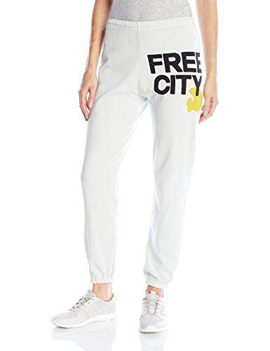 Freecity Womens Free City Featheweight Sweat Gessoyellow Xsmall Check Out This Fashion Pants Sweatpants Fashion