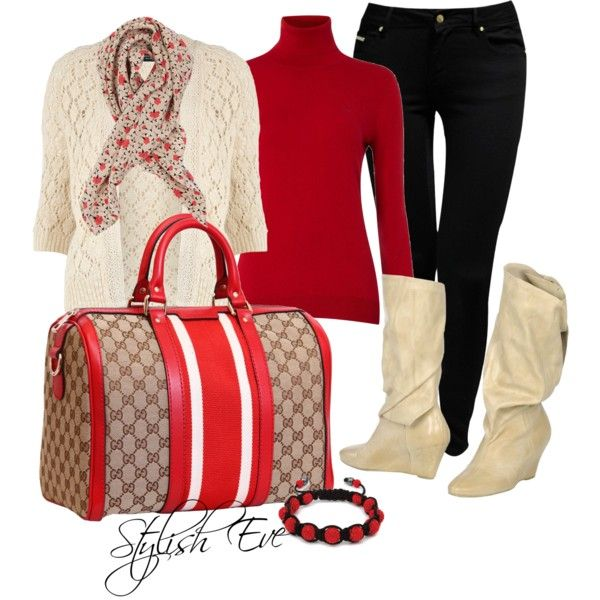 """Red White & Black Outfit !"" by stylisheve on Polyvore"