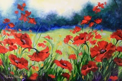 Shall we dance poppy flower field painting by texas flower artist shall we dance poppy flower field painting by texas flower artist nancy medina original art painting by nancy medina dailypainters mightylinksfo Image collections