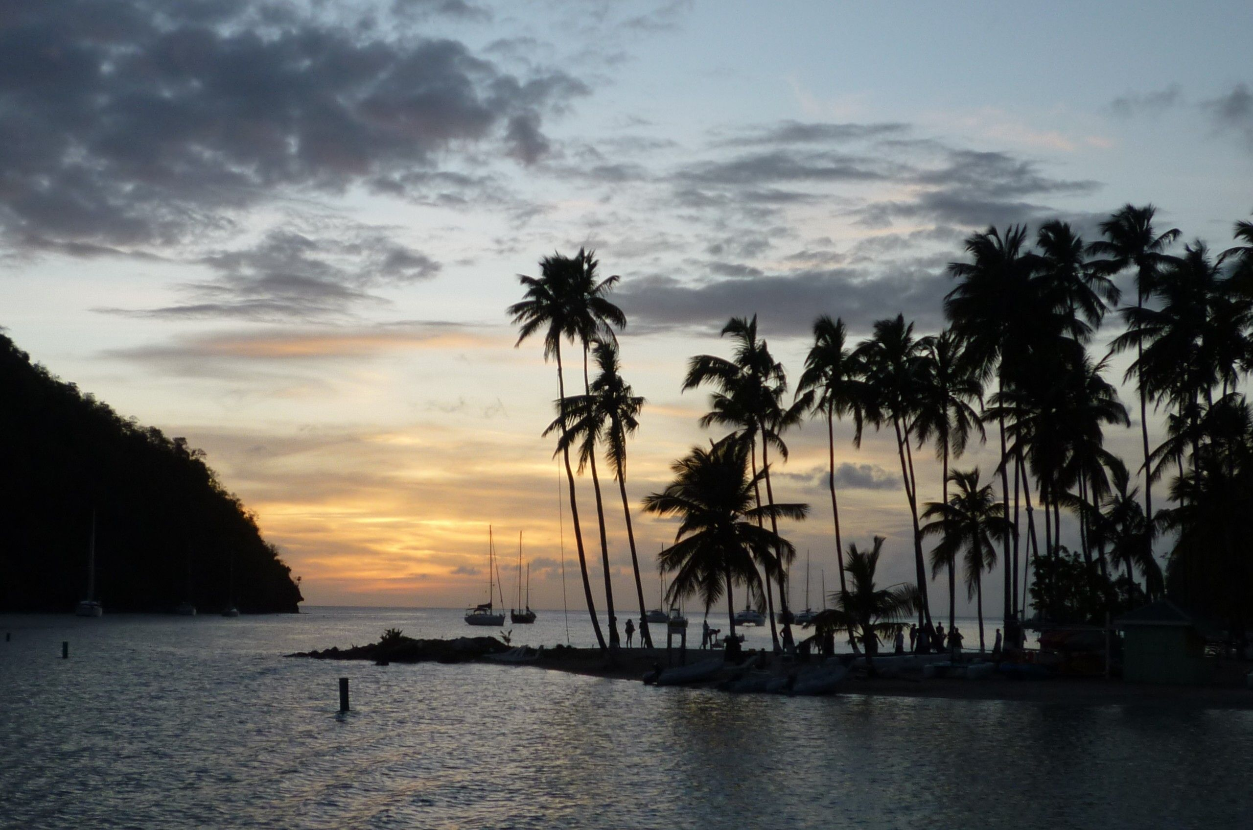 Marigot Bay at sunset - location for Marco and Juliet's first kiss!