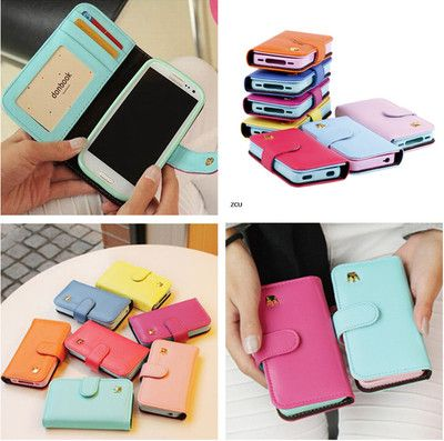 Wallet Flip Cell phone Stand Case Cover For Samsung galaxy S3 i9300 Protector