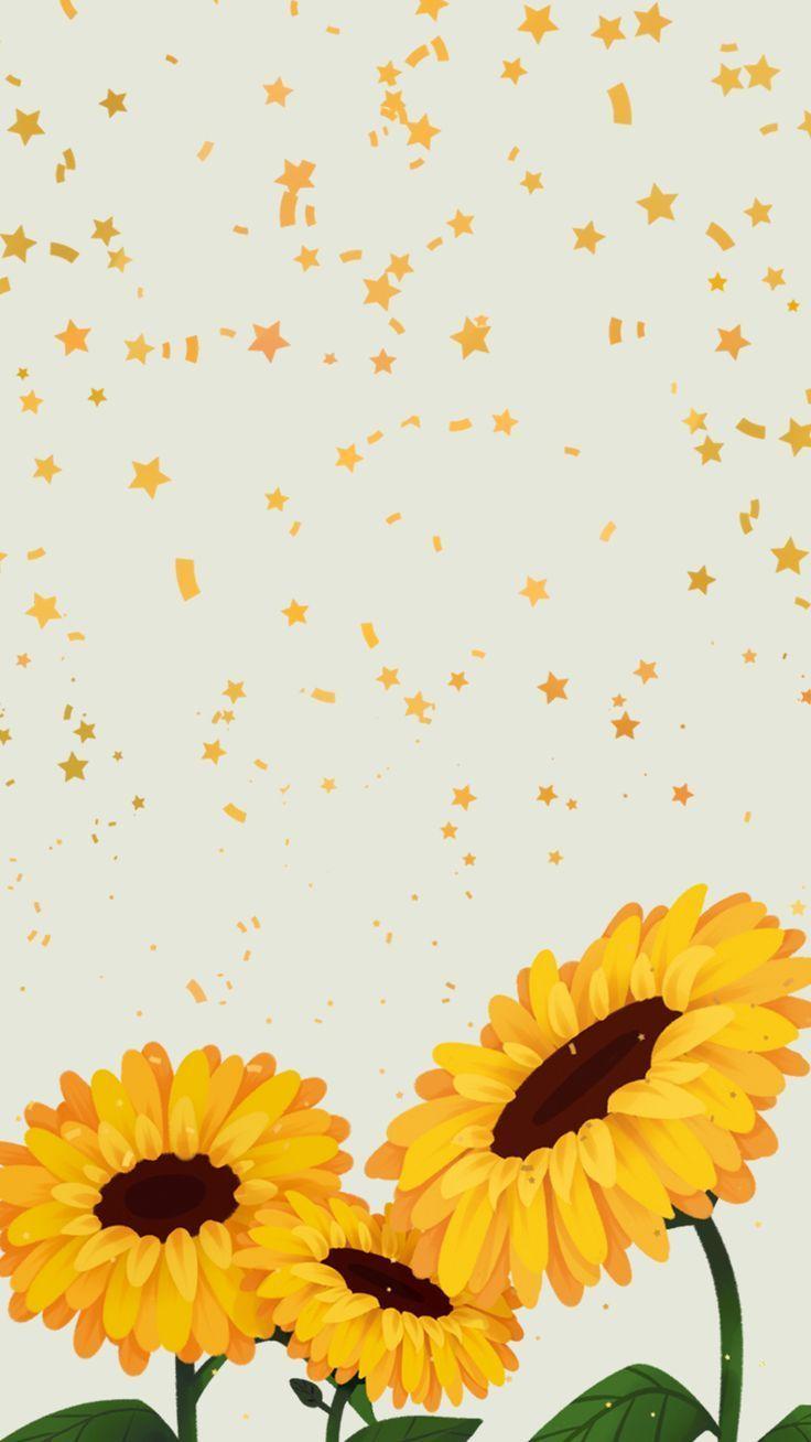 Hintergrund Brilho De Sol 2 Von Gocase Sunflowerwallpaper En