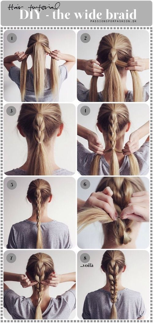 The Wide Braid A Slightly Different Method Than I Ve Seen Before Long Hair Styles Hair Lengths Diy Hairstyles