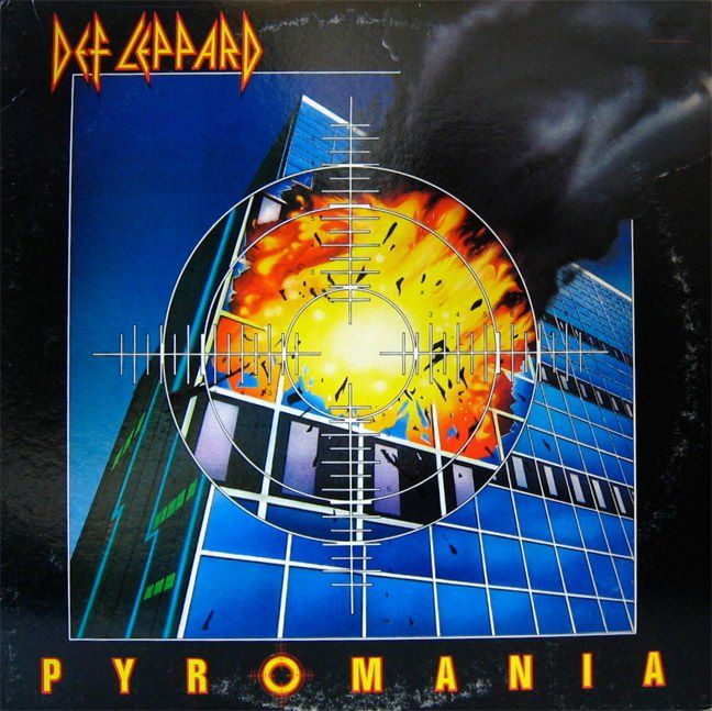 Def Leppard Pyromania Album Cover Nissalike Def Leppard Def Leppard Pyromania Vintage Vinyl Records