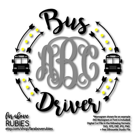 Bus Driver Monogram Wreath Arrows Monogram Not Included Etsy Bus Driver Bus Driver Appreciation Vinyl Quotes