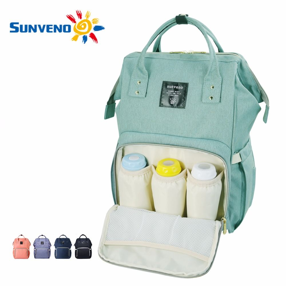 Barato Sunveno moda múmia maternidade saco de fraldas marca desinger saco  do bebê mochila de viagem de grande capacidade saco de fraldas cuidados com  o bebê ... 2f5b0978a4