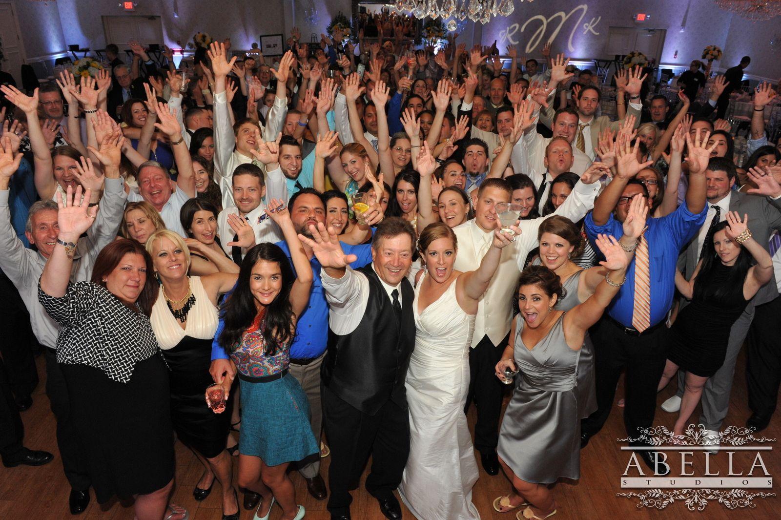 I think it's safe to say, this wedding was a ton of fun! Everyone danced the night away at the Crystal Ballroom. www.CrystalBallroomNJ.com. Photo courtesy of Abella Studios. #bride #groom #wedding #marriage #CrystalBallroom #NJWeddings #CentralNJWedding #freeholdnj #nj #weddingdress #husband #wife #banquethall #venue