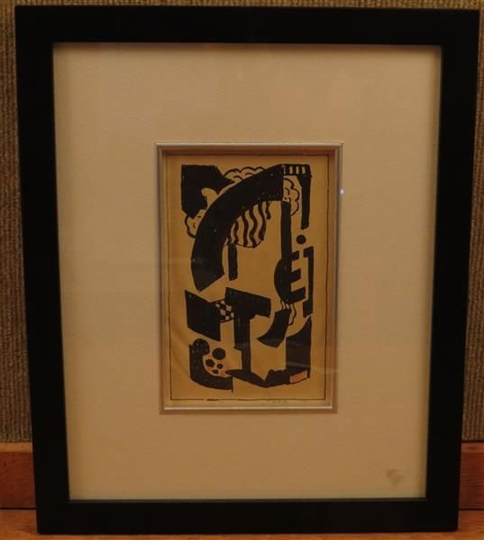 Charles Frederick Ramsey (1875-1951),Abstract Ink on Paper Painting